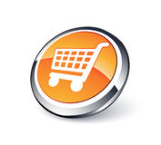 Shopping cart. Vector icon vector illustration
