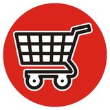 Shopping cart, vector icon Stock Image