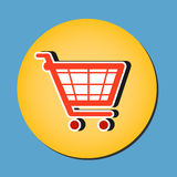 Shopping cart vector icon Royalty Free Stock Image