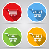 Shopping cart vector icons Royalty Free Stock Photos