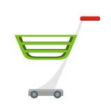 Shopping Cart Vector Illustration in Flat Design. Royalty Free Stock Photography