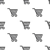 Shopping cart, vector seamless pattern Royalty Free Stock Images