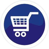 Shopping cart web button Stock Photo