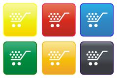 Shopping cart web button Royalty Free Stock Photos