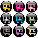 Shopping Cart Web Buttons Stock Photo