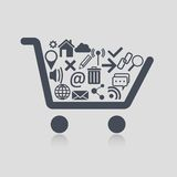 Shopping cart web Stock Image
