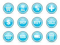 Shopping cart web icons set Royalty Free Stock Image