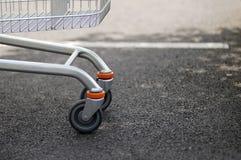 Shopping cart wheels Royalty Free Stock Photo