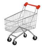 Shopping cart on the white Royalty Free Stock Image