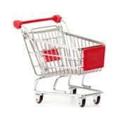 Shopping cart on white royalty free stock photos