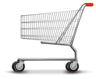 Shopping cart  on white background. Stock Photo