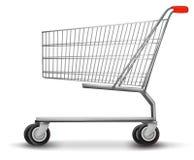 Shopping cart  on white background. Stock Photo