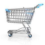Shopping cart on white background Royalty Free Stock Image