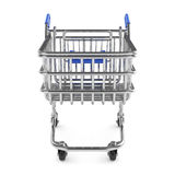 Shopping cart  on white background Stock Images