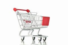 Shopping Cart on White Background Royalty Free Stock Photography