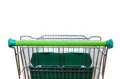 Shopping cart  white rear view Stock Photos
