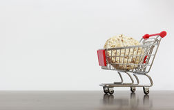 Shopping Cart With Biscuit Stock Image
