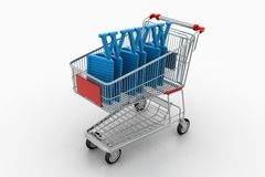 Shopping Cart With WWW Royalty Free Stock Photos