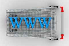Shopping Cart With WWW Stock Photography