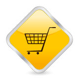 Shopping cart yellow icon Royalty Free Stock Photo