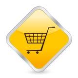Shopping cart yellow icon Royalty Free Stock Photo
