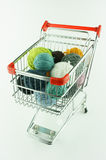 Shopping cartfrom steel Stock Image