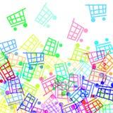 Shopping carts Royalty Free Stock Photography