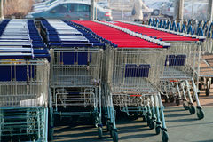 Shopping carts Stock Image