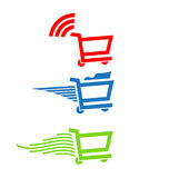 Shopping carts Logo Royalty Free Stock Photo
