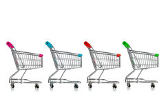 Free Shopping Carts Royalty Free Stock Image - 28855366