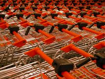 Shopping carts. Picture of many shopping carts Stock Image