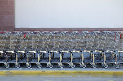 Shopping Carts. Stacked Up Royalty Free Stock Photography
