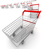 Shopping carts Stock Photo