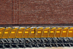 Shopping Carts Royalty Free Stock Photography