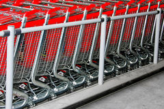 Shopping carts angle Royalty Free Stock Photography