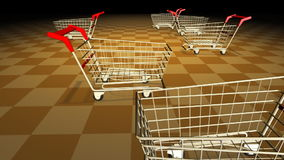 Shopping carts stock video footage