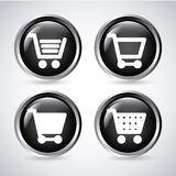 Shopping carts buttons Stock Photo
