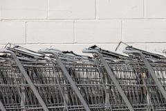 Shopping Carts Horizontal Stock Photo