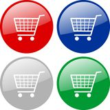 Shopping carts icon Royalty Free Stock Photo