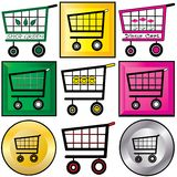 Shopping Carts Illustration Royalty Free Stock Image