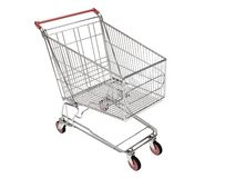 Shopping carts isolated Stock Photography