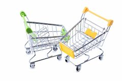 Shopping carts. Isolated on a white background Royalty Free Stock Photography