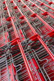 Shopping carts in line Stock Image