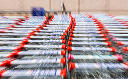 Shopping carts,motion Blur Royalty Free Stock Photos