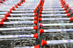 Shopping carts,motion Blur Stock Photos