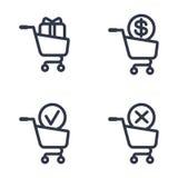 Shopping carts order status Royalty Free Stock Photo