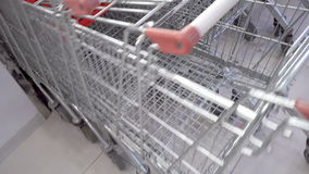 Shopping carts stock footage