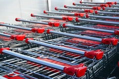Shopping carts Royalty Free Stock Images