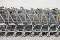 Shopping Carts in a Row Royalty Free Stock Photo