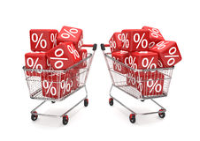 Shopping Carts Sale Cubes